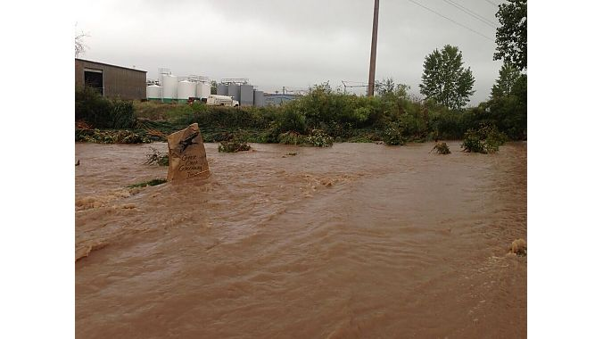 This photo from the Twitter feed of Boulder retailer The Service Course shows the Goose Creek bike path on Thursday.