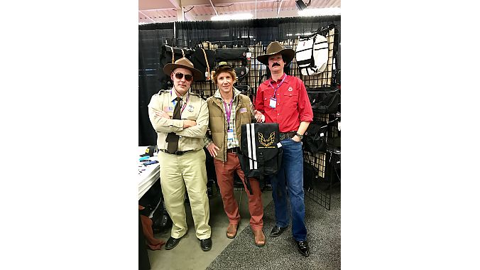 "And it wouldn't be Frostbike without local bag maker Banjo Brothers in costume. This year's theme was Smokey and the Bandit, with Mike Vanderscheuren as Sheriff Buford T. Justice (left), Craig Rittler as Cledus ""Snowman"" Snow, and Eric Leugers portraying Bo ""Bandit"" Darville."