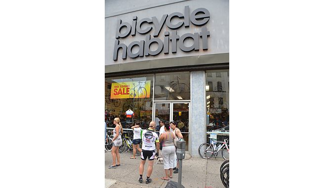 The Dealer Tour visited Bicycle Habitat's location in Brooklyn's Park Slope neighborhood. Owner Charlie McCorkell now has four stores in Brooklyn and Manhattan.