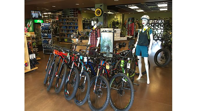 Brands have come and gone over the years at The Bike Shop, but Cannondale has been a constant at the retailer for 20 years. The shop added Giant two years ago, and still has access to bikes from Niner, but has stopped being a stocking dealer for the Colorado brand.