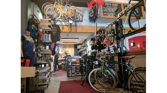 The HandleBar Bike Shop has a full-service repair department and carries Yeti, Orbea, Public and Spot.