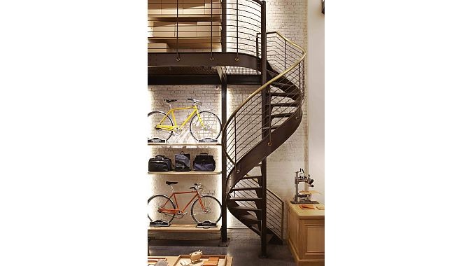 Bikes and a spiral staircase