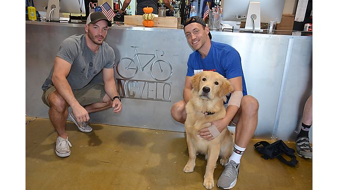 Brothers Jay (left) and Kyle Wyatt opened NC Velo in south Charlotte on July 4 of this year.