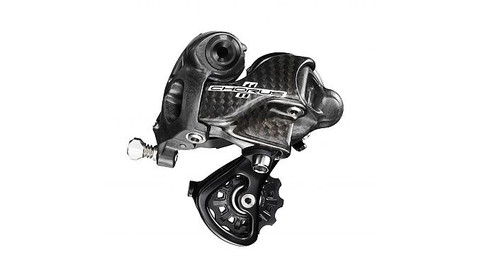 The new rear derailleur increases chain wrap and improves shifting to larger cogs.