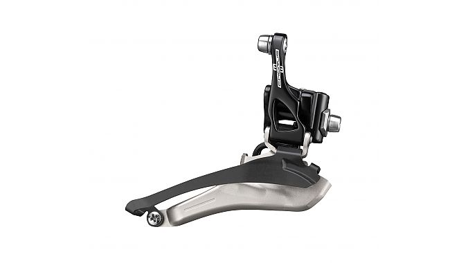 The front derailleur was completely redesigned with a longer arm for increased leverage.