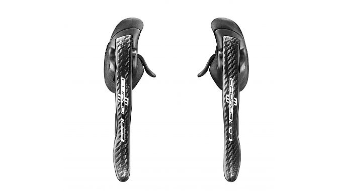 The new Chorus EPS Ergopower levers are carbon.