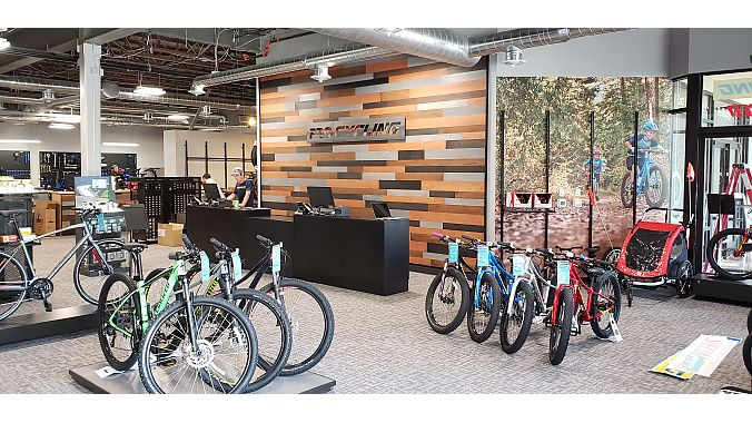 Specialized helped with the store's design and layout.