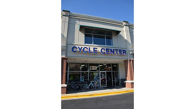 Cycle Center is about 5,000 square feet with a full-service repair department and a fit studio that owner John Green added eight years ago in an area that was formerly set up as a children's play area.