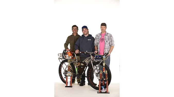 Moots won the People's Choice Award with this IMBA trail maintenance bike.