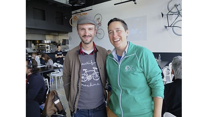 East Bay Bicycle Coalition's Education Director Robert Prinzand Executive Director Renee Rivera