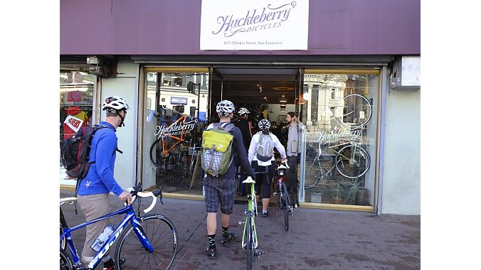 Huckleberry Bicycles had perhaps the world's largest selection of cycling jeans.
