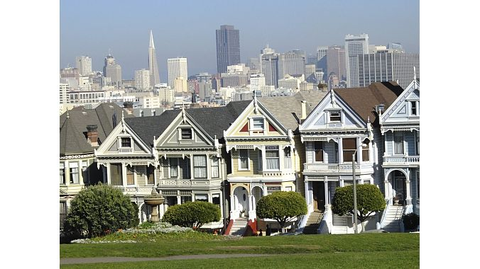 SF's iconic Painted Ladies homes. ... not a Stamos or Saget to be found.