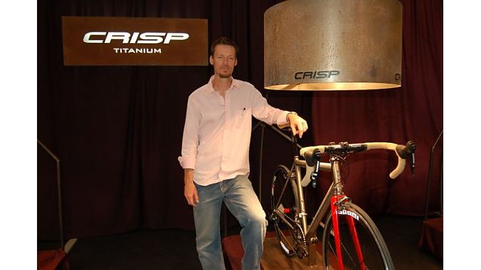 Texas native Darren Crisp lives in Italy where he hand builds custom titanium frames. Crisp welds about 35 frames per year for customers who wait up to 14 months for delivery.