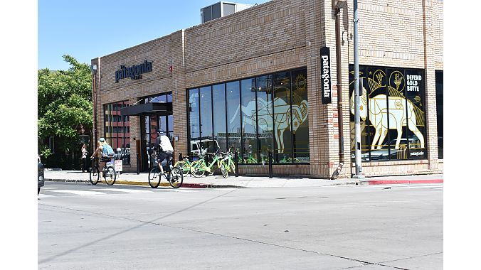 It's not unusual to see locals riding around town. Patagonia has a branded store here to cater to the city's adventure community.
