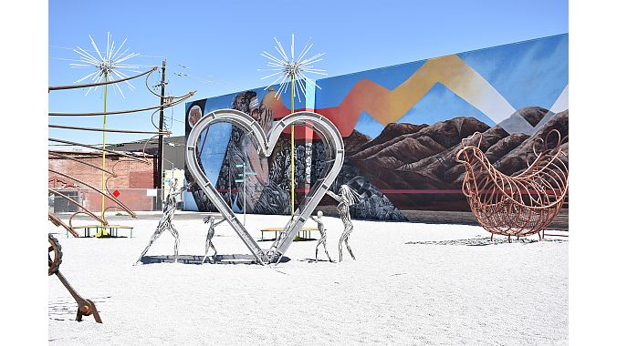 Art installations from Burning Man displayed in Midtown.