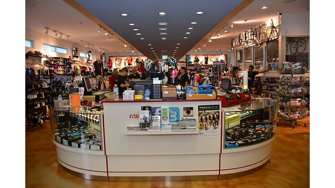 Cycle World Miami does 60 percent of its business with foreign visitors. That's one reason the store is packed with inventory, while also being nicely merchandised.