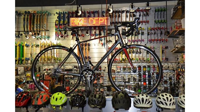 Fritz's has experimented with high-end bikes from Seven and Santa Cruz, but most bike sales now are well under $1,000.