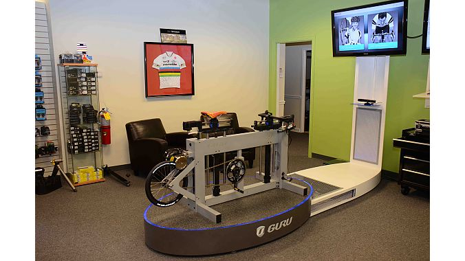 Atlanta Cycles does pro fits and pre-test ride fits on its Guru machine.