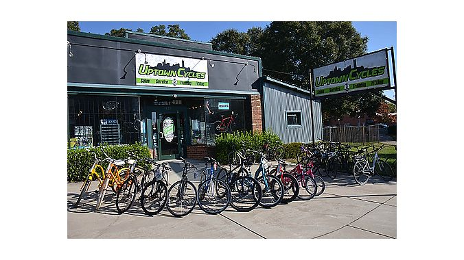 Uptown Cycles is located in the northwest corner of Charlotte's city center.