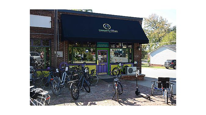Charlotte Cycles is housed in a 100-year-old building that was originally a general store.