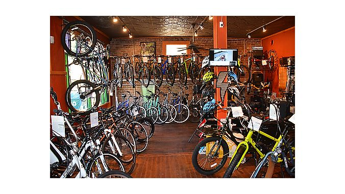 Charlotte Cycles' mix of recumbent trikes, folding bikes, electric conversion kits, and road, mountain and hybrid bikes from brands like Felt, Jamis, Pedego, Easy Motion, Benno, Terra Trike, Catrike and Yuba allow it to service a wide variety of customers from a limited 1,500-square-foot facility.