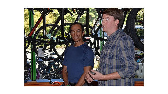 Charlotte Cycles owners Francisco Montero and Brian Doolittle are mechanical engineers by training, but they are share a dream of getting unlikely cyclists on bikes. The shop is located between a neck and spinal surgery center and a number of specialized care facilities. And many of their customers are patients in recovery from major accidents, have knee injuries or have been prescribed to lose weight by their doctors. The shop's ability to electrify trikes from Terra Trike and Catrike enables customers a s