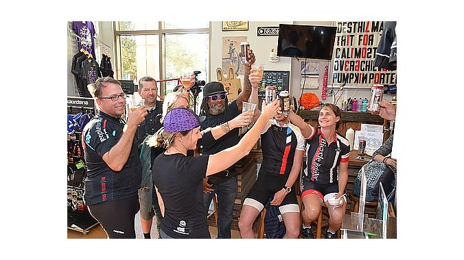 PeopleForBikes hosted a reception at The Spoke Easy, the final stop of the Dealer Tour's first day.