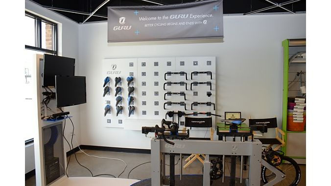 Infinite's Guru fitting station gets a lot of work: about four free fits a day. About 95 percent of the fits lead to a bike sale.