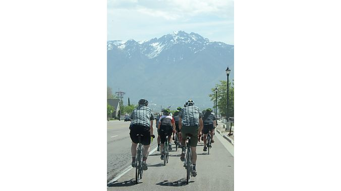 The Wasatch Range was our constant ride companion.