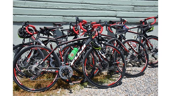 We rode Fuji Sportif road bikes courtesy of tour sponsor ASI.