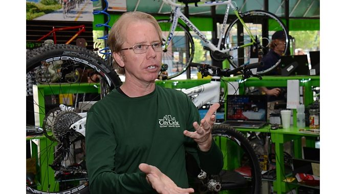 Drew Johnson pulled up stakes, leaving his Jacksonville, Florida, store in the  hands of a manager and opened a second nine weeks ago in downtown Ogden, Utah.   Johnson, who repped Cannondale in Florida before opening his Jacksonville store, thanks   his longtime friend, Matt Ohran, and Cannondale's rep in Utah, for urging him to leave   Florida and open a store in Utah. And one of Johnson's mechanics, Steve McKnelly, also   moved to Ogden. Johnson, who primarily sells Cannondales and a few Scott bikes, beg