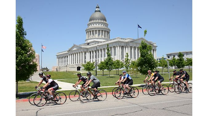 Our route brought us past the state capitol building.