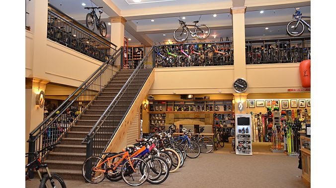Sports Den is a major ski retailerthat transitions into bikes for the summer.