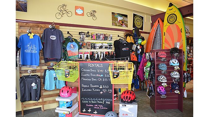 Rapid Creek Cycles & Sports has diversified income sources: bike sales, rentals, tours and water sports equipment.