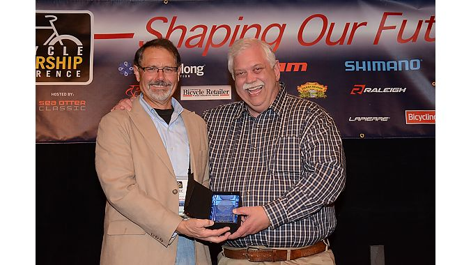 SBS' Chuck Hooper is recognized for his service to the industry.