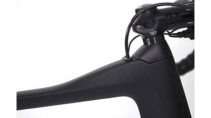 Close-up of the Parlee ESX with the tall top cap.