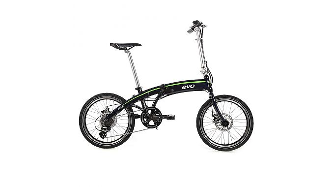The EVO Atwater folding bike has a Promovec 250W rear hub drive system and will retail for $1,700.