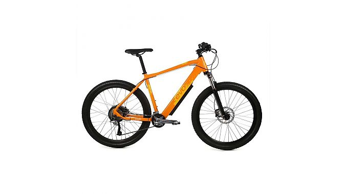 The EVO Fire Ridge mountain bike has a Promovec 350W rear hub drive system. It will retail for $2,000.