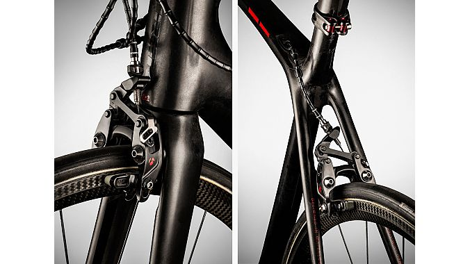 The bike also features new Bontrager integrated brakes.