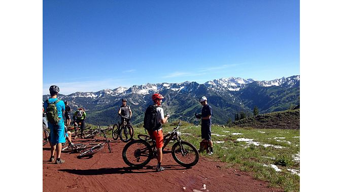 Enve led a ride on the Wasatch Crest trail.