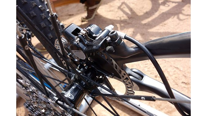 FSA introduced its first hydraulic mountain bike disc brake at Eurobike.