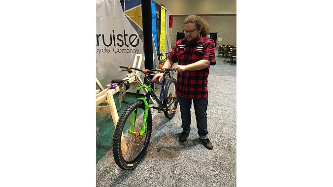 Gabriel Lang of Altruiste Bikes discusses the design of his Best in Show-winning long-travel 29er.