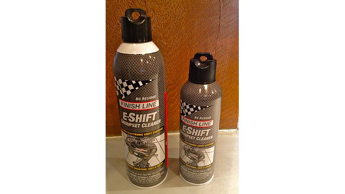 First-time exhibitor Finish Line debuted its e-Shift Groupset Cleaner, designed specifically for use with electronic shifting systems. It's quick-drying, doesn't require a water rinse and won't cause any damage to wires or electronic components. It's available at IBDs now in a 9 oz. can that sells for $9.99 and a 16 oz. can retailing for $14.99.
