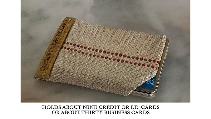 The FireHose card wallet is made of recycled fire hoses.