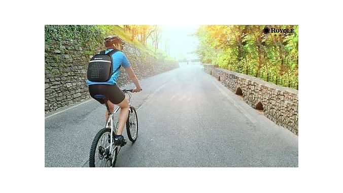 The Royole Smart Cycling Backpack.