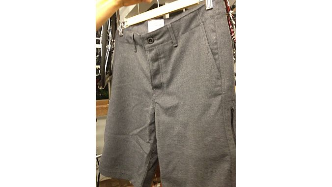 Wool shorts, sewn in San Francisco with wool sourced from New Zealand.