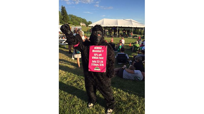 "The Vermont Mountain Bike Association engages in some ""gorilla marketing"" for its upcoming festival."
