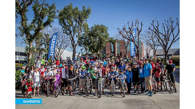 A large group rolled from Shimano's headquarters to kick off the 2016 fundraiser. Pirate costumes are encouraged!
