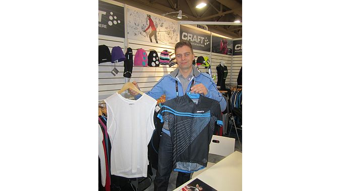 Craft's Huub Valkenburg shows off some of Craft's 2013 summer line. The company will offer a 30-day guarantee to consumers--if you don't like it, get your money back.