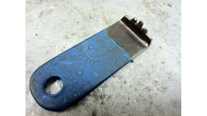 Bay Area Bike's custom-made chainring nut tool.